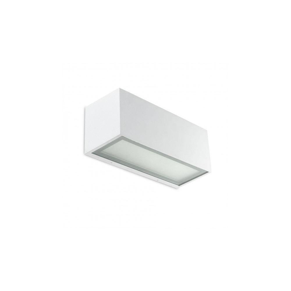 Leds C4 Applique Lia, aluminium blanc et verre