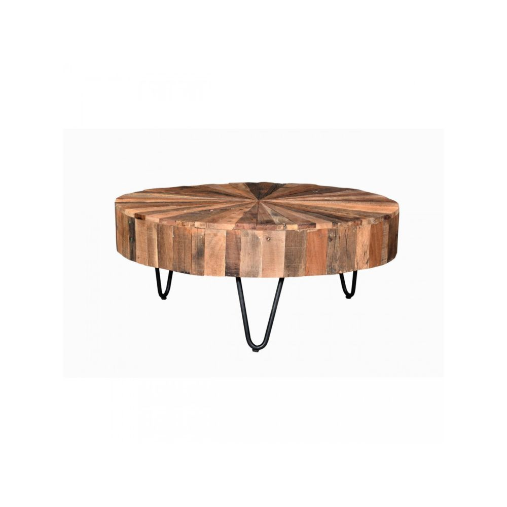 Bobochic BOBOCHIC Table basse en bois recyclé BANGALORE