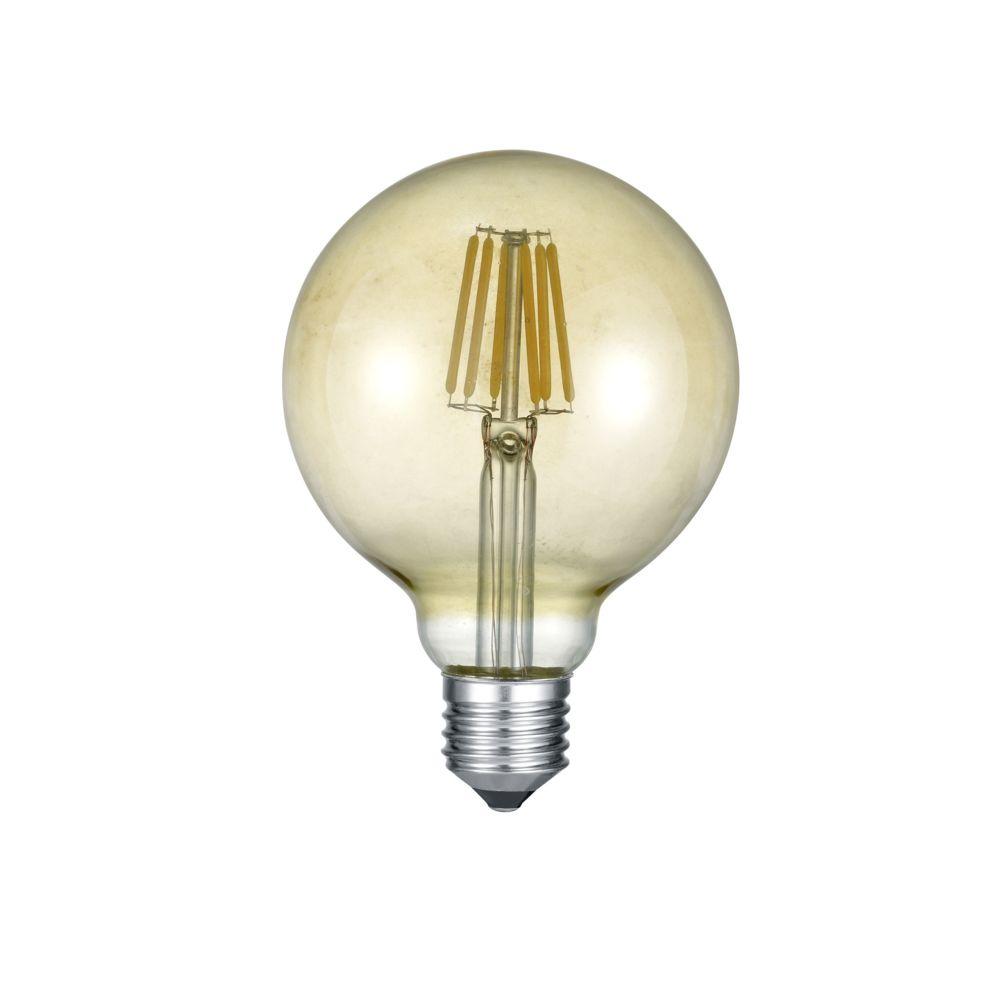 Trio Ampoule globe LED E27 Déco filament 420 lm 6W jaune