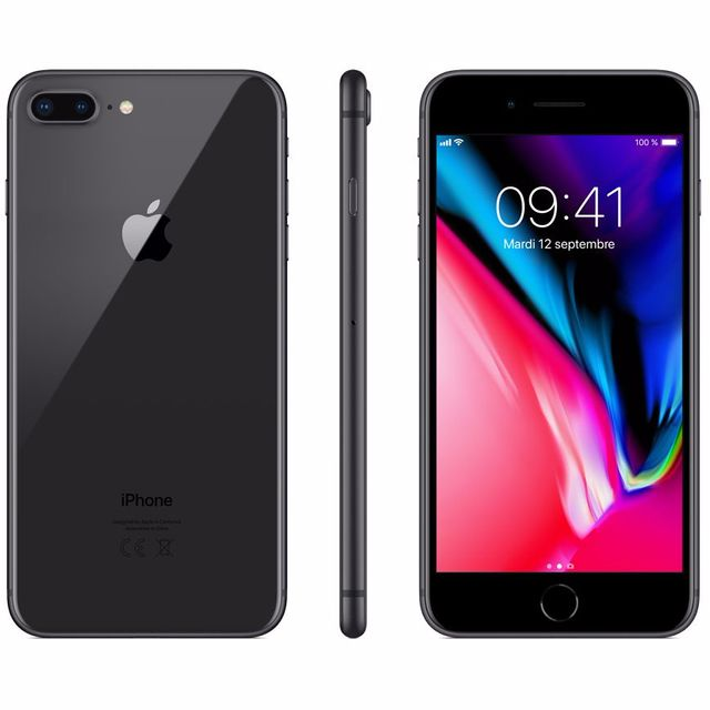 Apple - iPhone 8 Plus - 256 Go - MQ8P2ZD/A - Gris Sidéral - iPhone 256 go