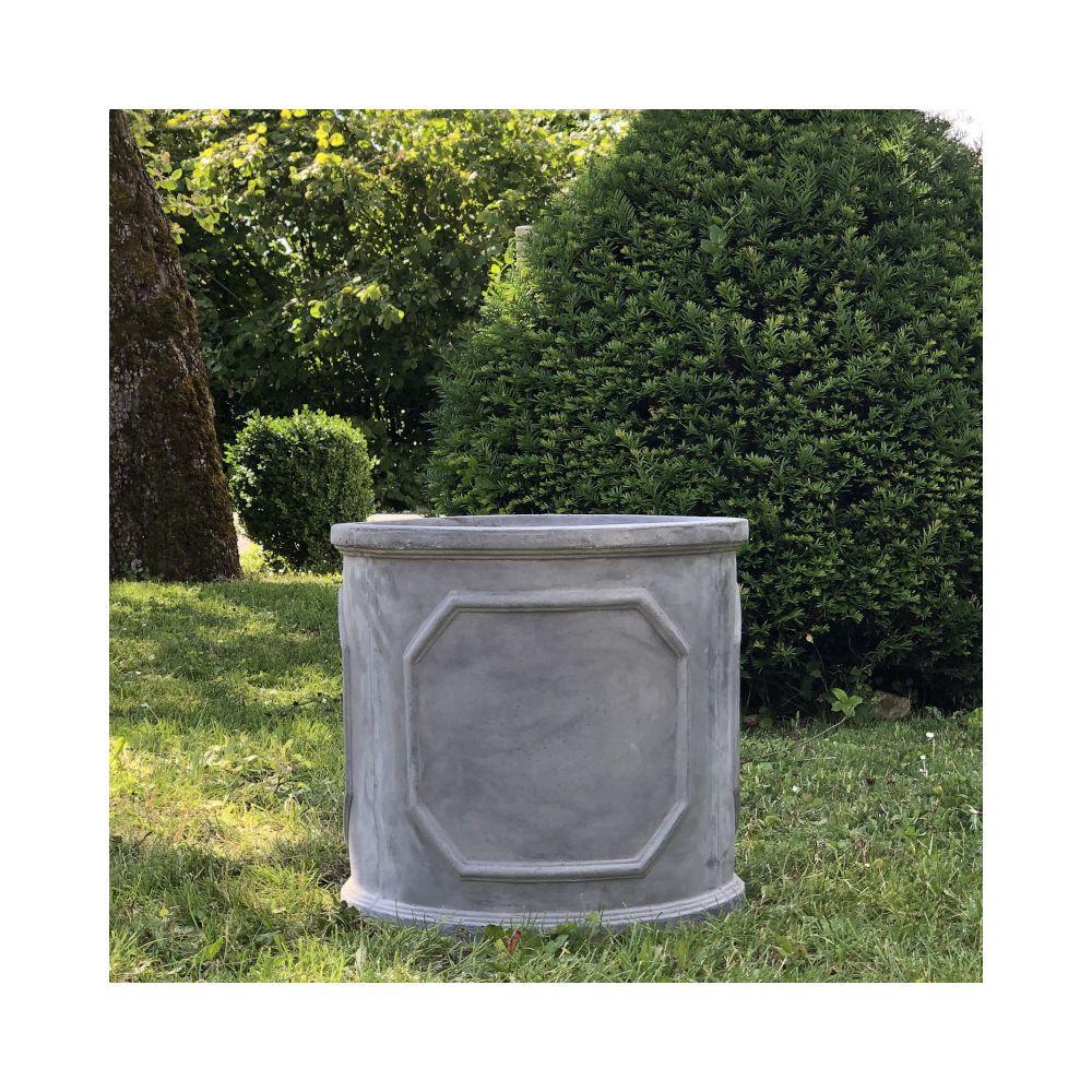 L'Originale Deco Grande Jardinière Bac Jardiniere Pot à Plantes Arbre de Jardin d'Entrée Vase Vasque Medicis ø44 x 42.50 cm