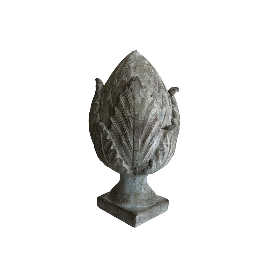 L'Originale Deco Grande Pomme de Pin Terre Cuite Epi Obélisque de Jardin Pilier 27 cm x 14 cm