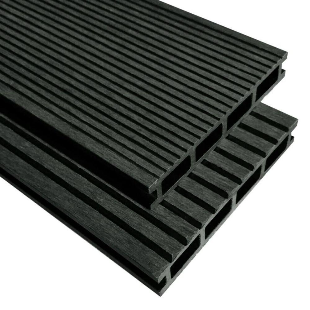 Vidaxl Panneaux de terrasse WPC avec accessoires 16m² 2,2m Anthracite   Gris
