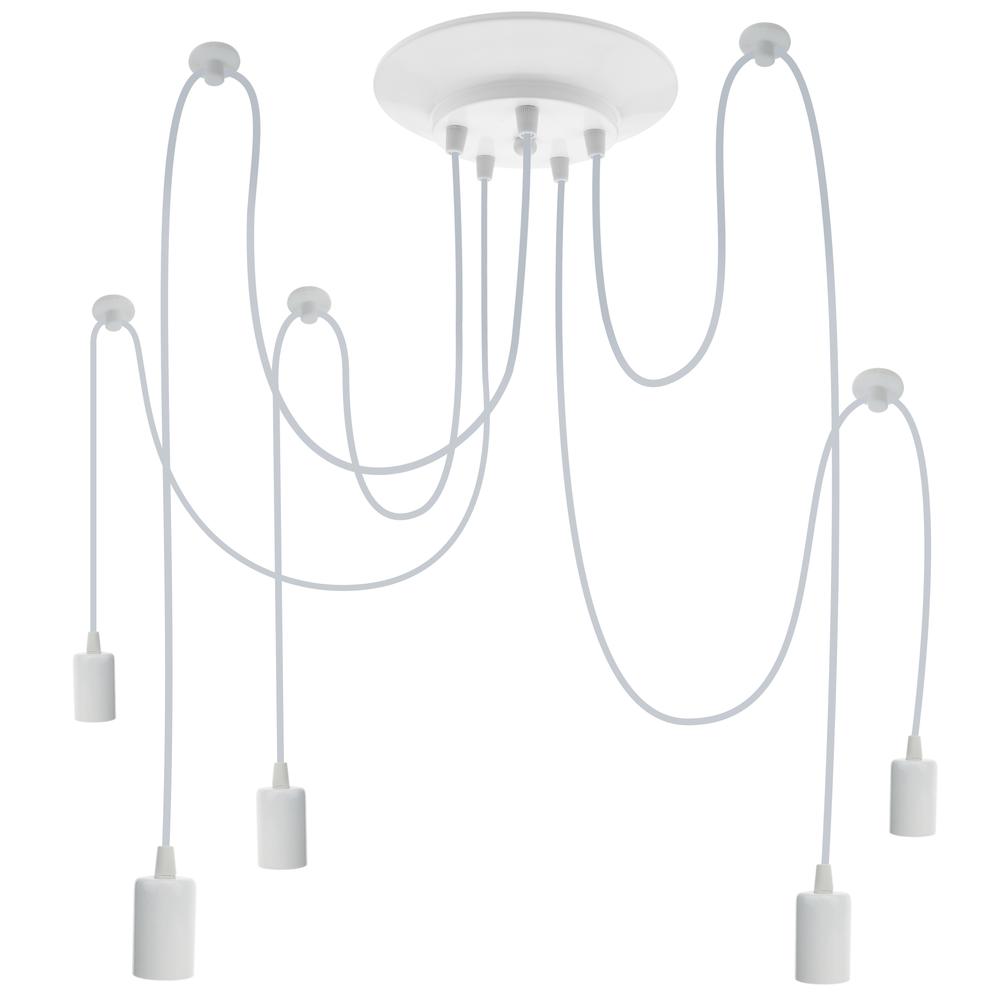 Primematik PrimeMatik - Lampe vintage pour 5 ampoule de fil E27 avec câble de 2m