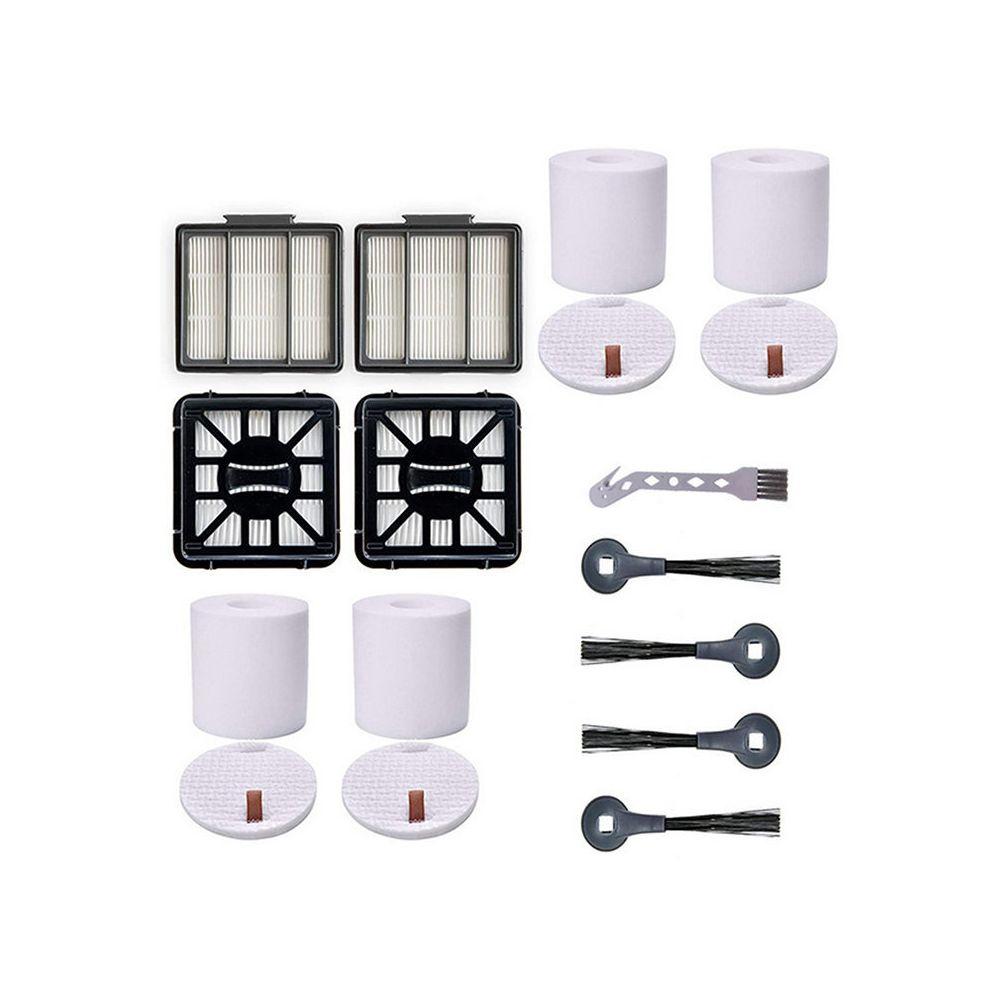 Generic 4pcs Filtre coton+4pcs brosses latérales+1pc brosse de nettoyage+2pcs filtres pour Aspirateur Shark IQ R101AE IQ R101 (R