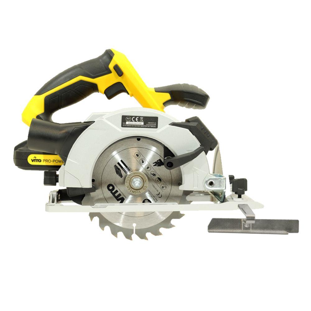 Vito Pro-Power Scie circulaire Diam 150 mm sans fil 20 V VITOPOWER + 2 batteries 2.0 Ah + 1 Chargeur rapide