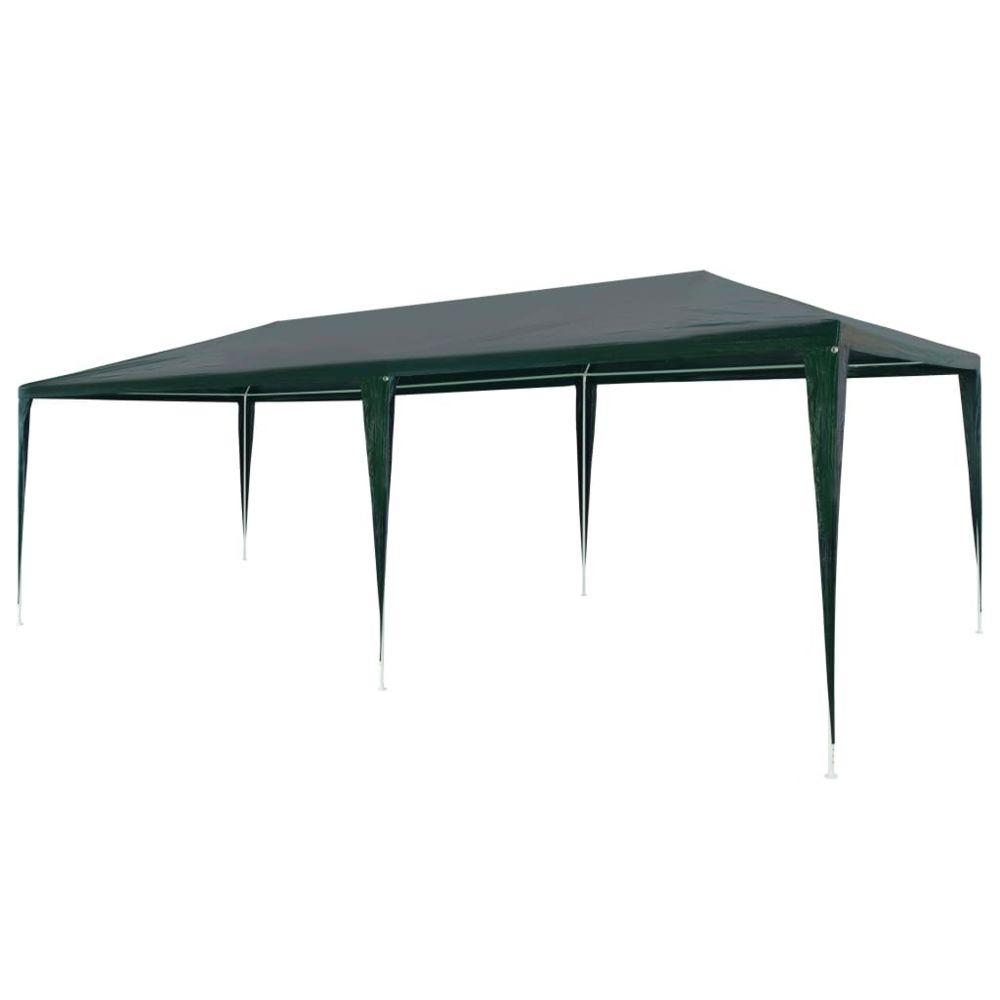 Vidaxl vidaXL Tente de Réception 3x6 m PE Vert Jardin Terrasse Patio Tonelle Pavillon