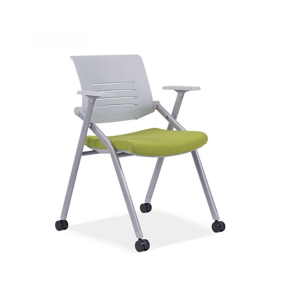 Wewoo 129B chaise de conférence de formation pliante épaisse respirante maille de vert
