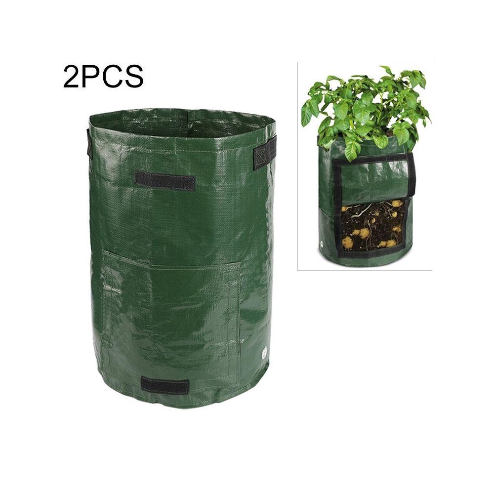 Wewoo 2 PCS 10 gallons de plantation de sacs de PE de légumes de cultiver des de fournitures de jardin de fermetaille 35cm x 5