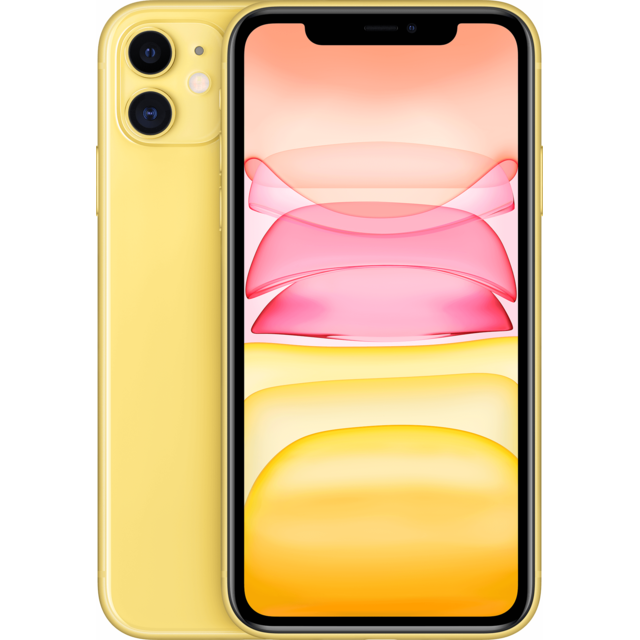 Apple - iPhone 11 - 64 Go - MWLW2ZD/A - Jaune - Smartphone reconditionné