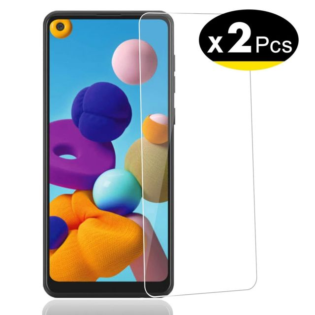 Ipomcase -Verre Trempé (lot de 2) pour Samsung Galaxy A21s, Galaxy A21, Film Protection écran Ipomcase  - Protection écran tablette
