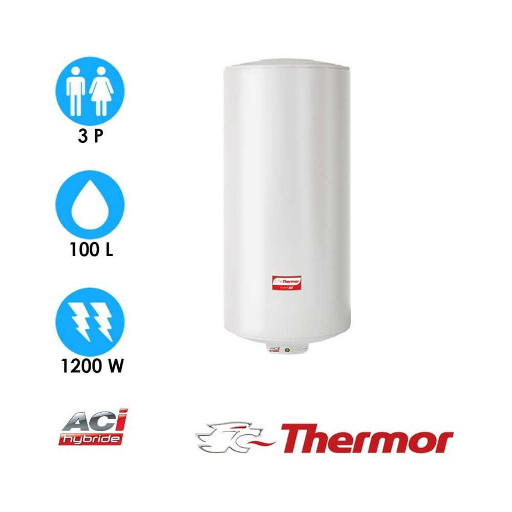 Thermor Chauffe-eau duralis - 100l - vertical mural - thermor
