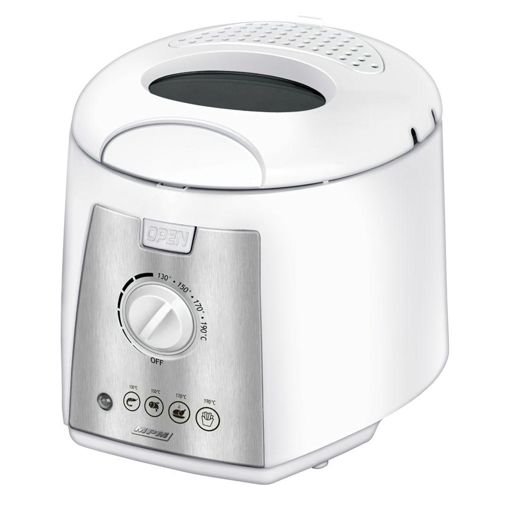 Mpm Friteuse électrique compacte Bol lavable antiadhésif de 1,5 litre 1100W MPM MFR-07