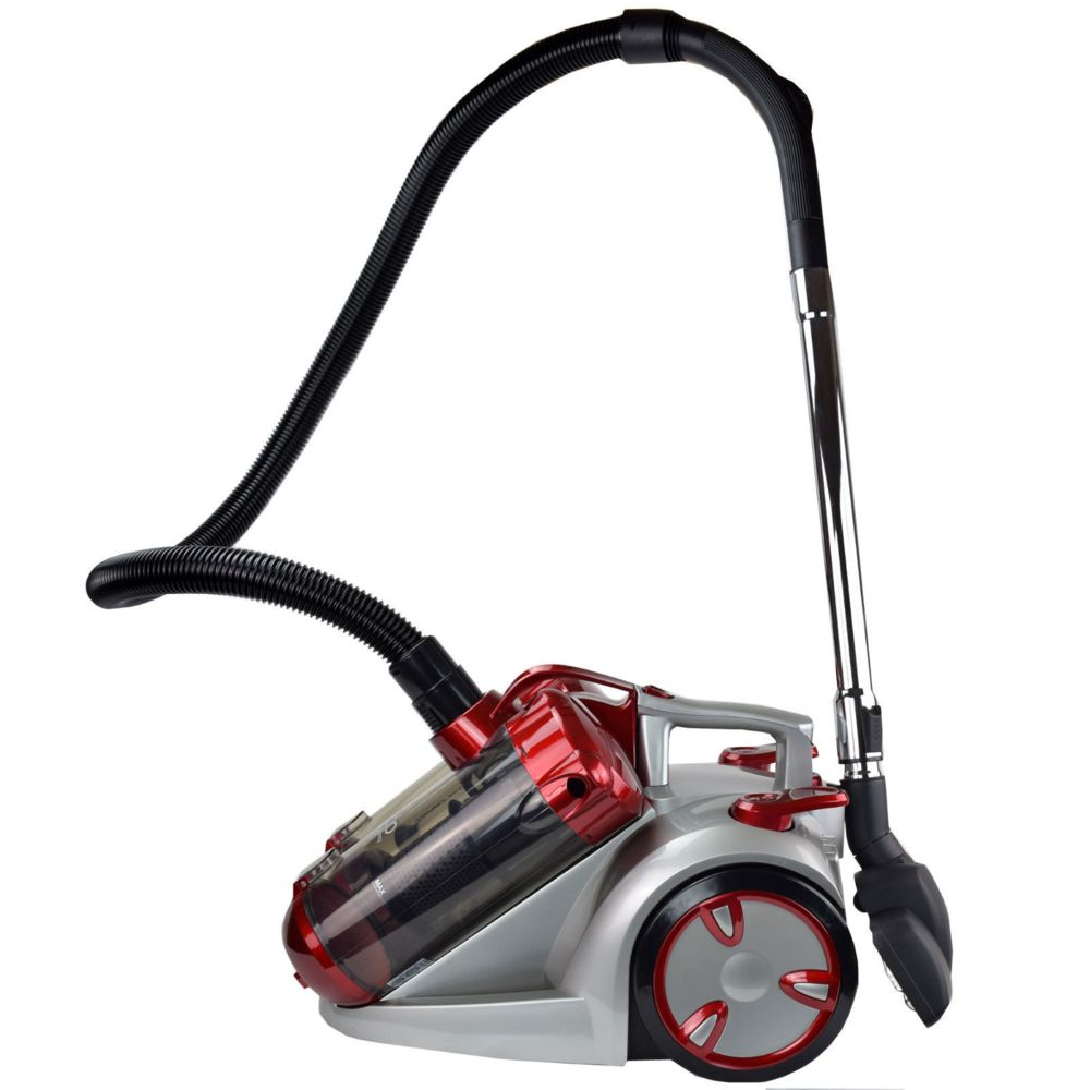 Syntrox Germany Aspirateur Double cyclone sans sac argent rouge