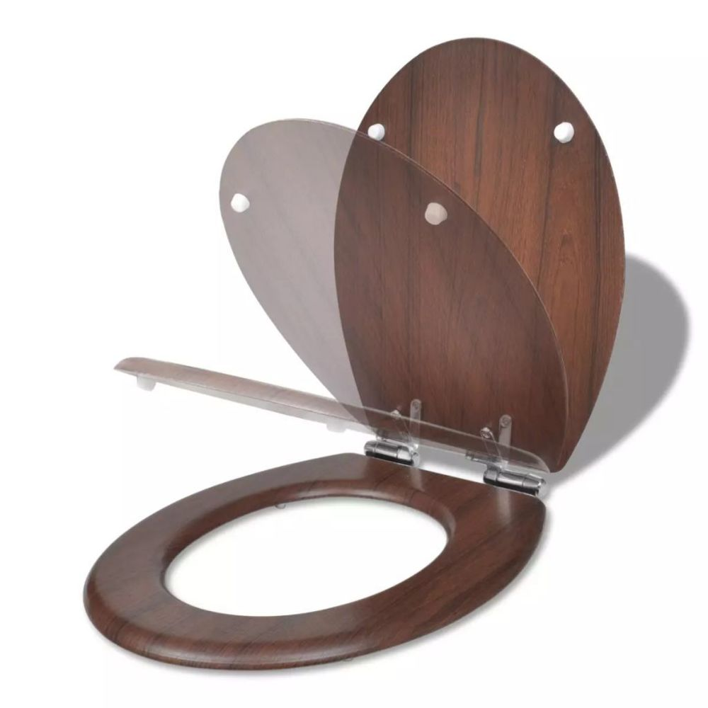 Vidaxl Abattant WC à fermeture amortie couleur bois | Brun