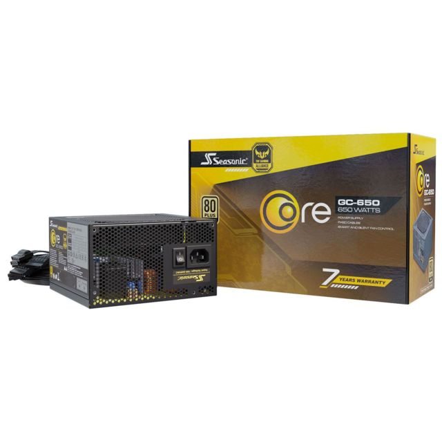 Seasonic - Core GC 650W - 80 Plus Gold - Alimentation modulaire