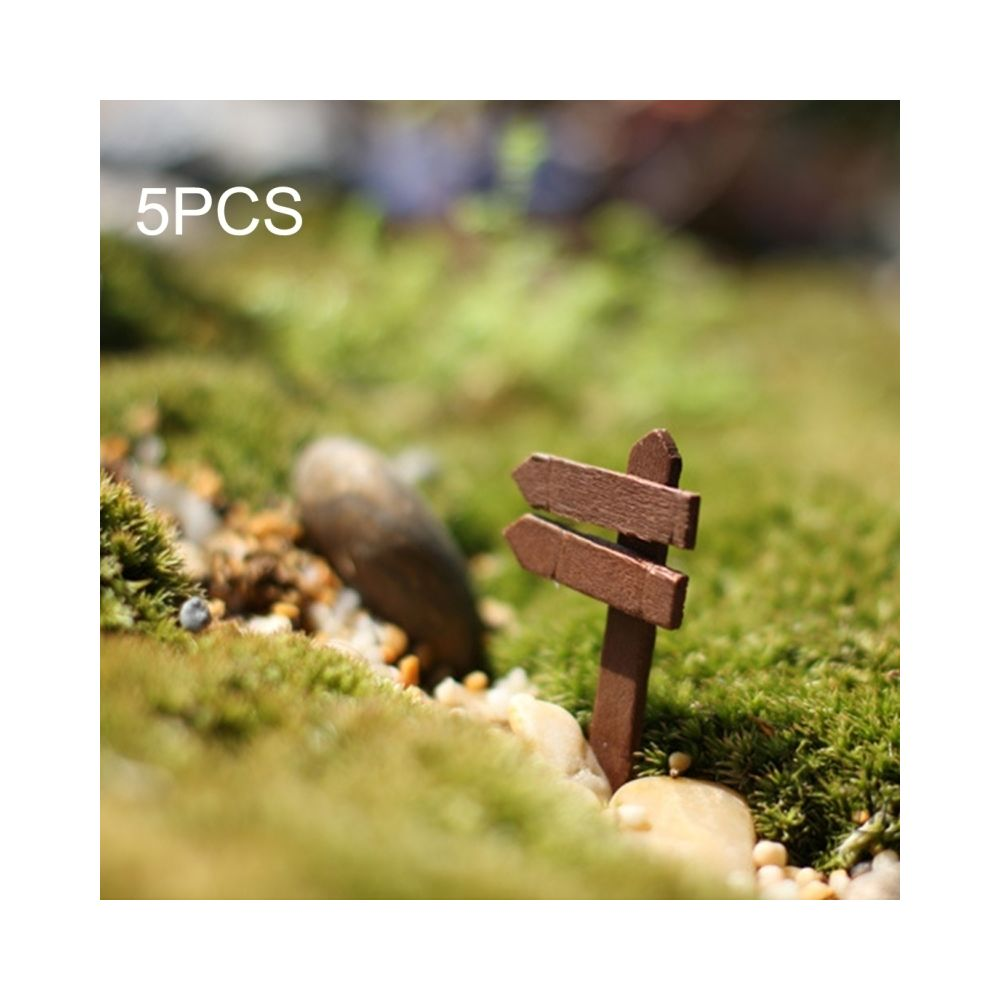 Wewoo Décoration Jardin 5 PCS Mini Clôtures En Bois Panneau Ornement Bricolage Plantes Labels Pots Décor Micro-paysage DIY Orn