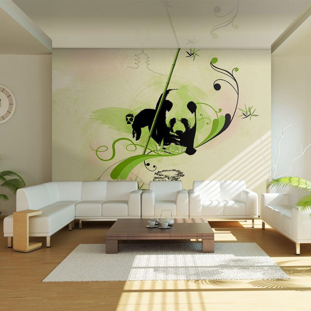 Declina Papier peint - Panda dans la forêt de bambous