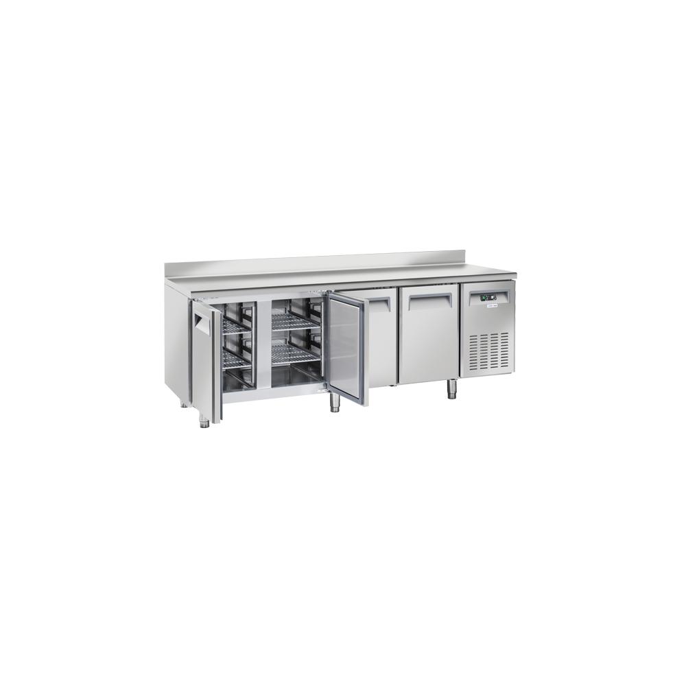 Materiel Chr Pro Table Réfrigérée Positive avec Dosseret 4 Portes 570 L - Profondeur 700 - Cool Head - R290