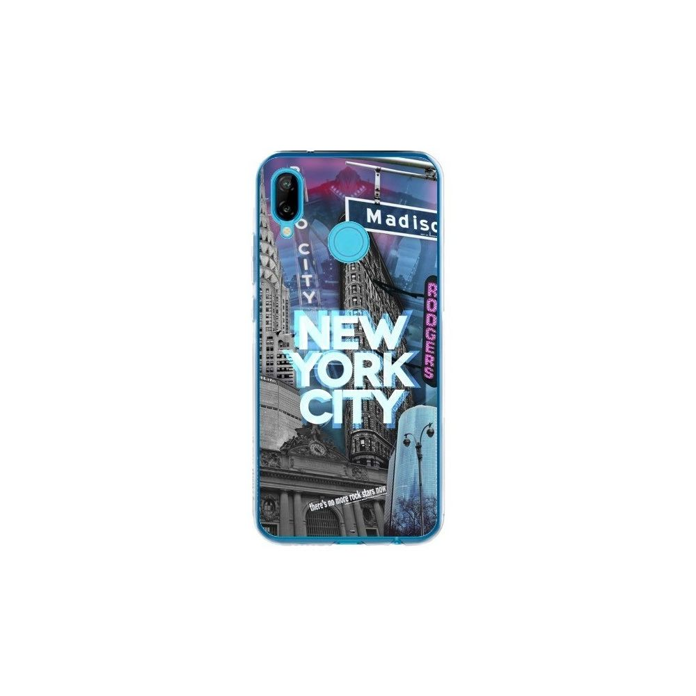Apple - Coque Huawei P20 Lite New York City Buildings Bleu - Javier Martinez