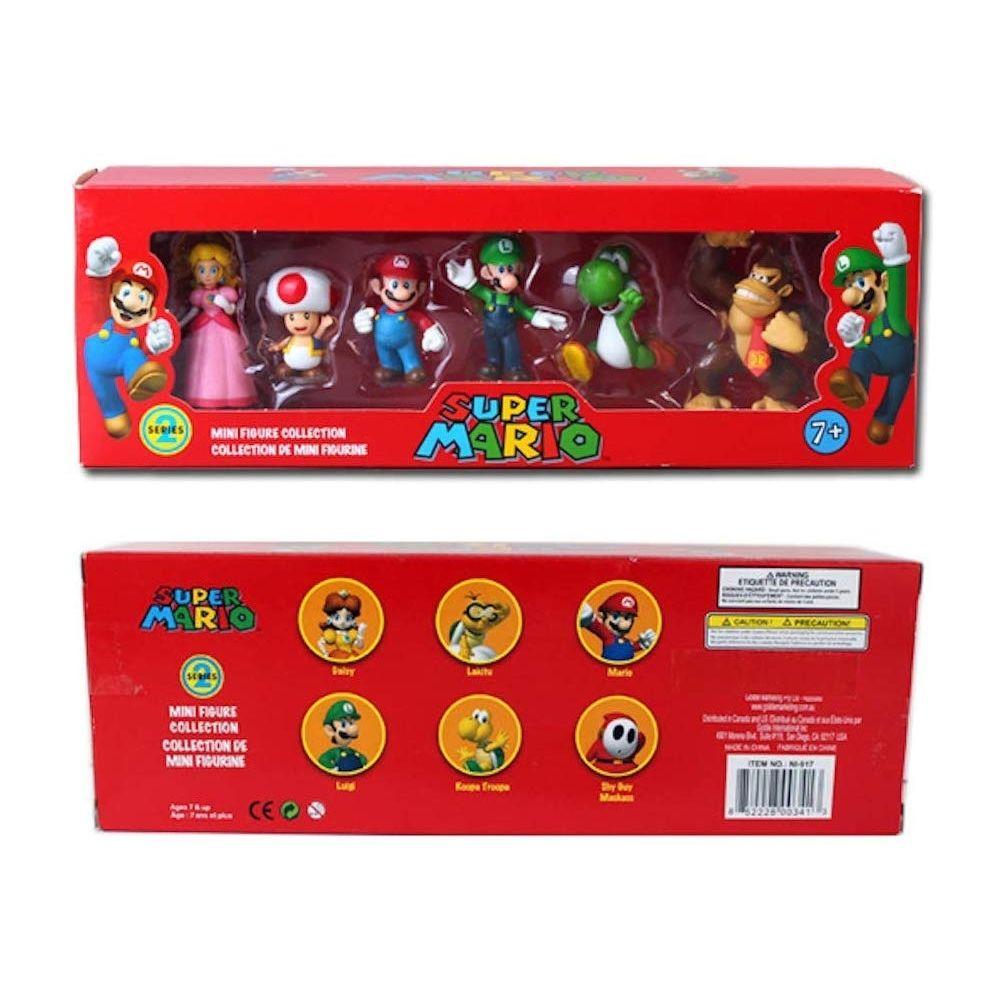 Super Mario Bros COFFRET 6 FIGURINES SUPER MARIO