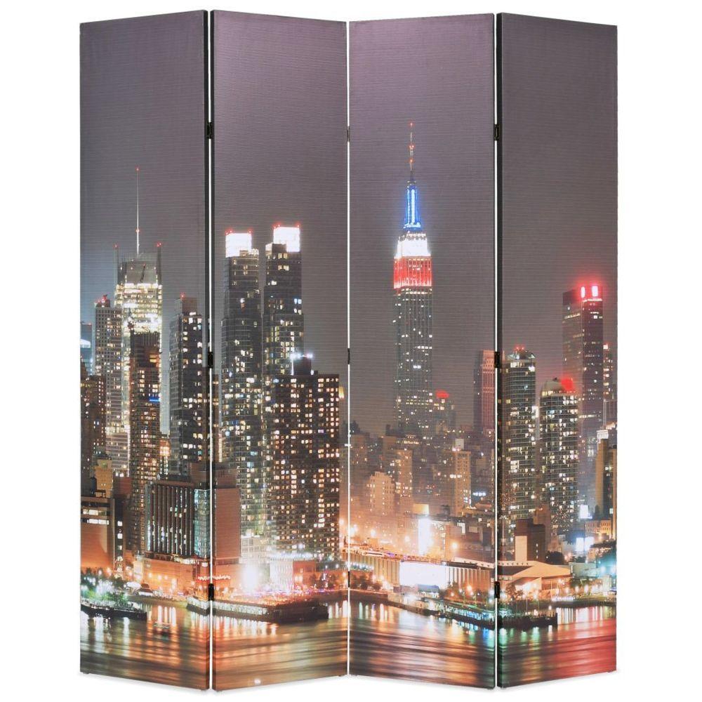 Vidaxl Cloison de séparation pliable 160x180 cm New York la nuit - Séparateurs de pièces - Meubles   Multicolore   Multicolore