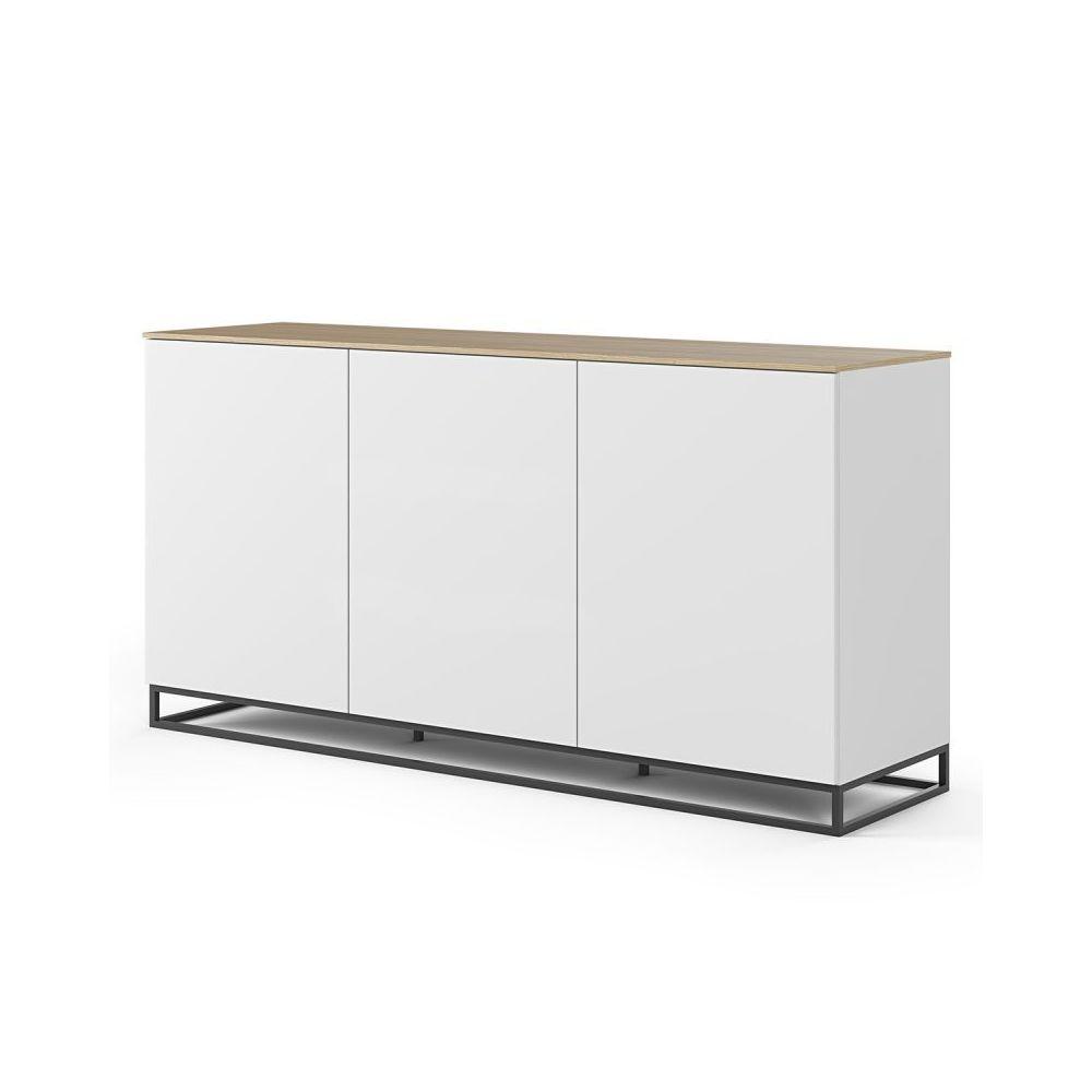 Paris Prix TemaHome - Buffet Design Join XIV 180cm Blanc & Chêne