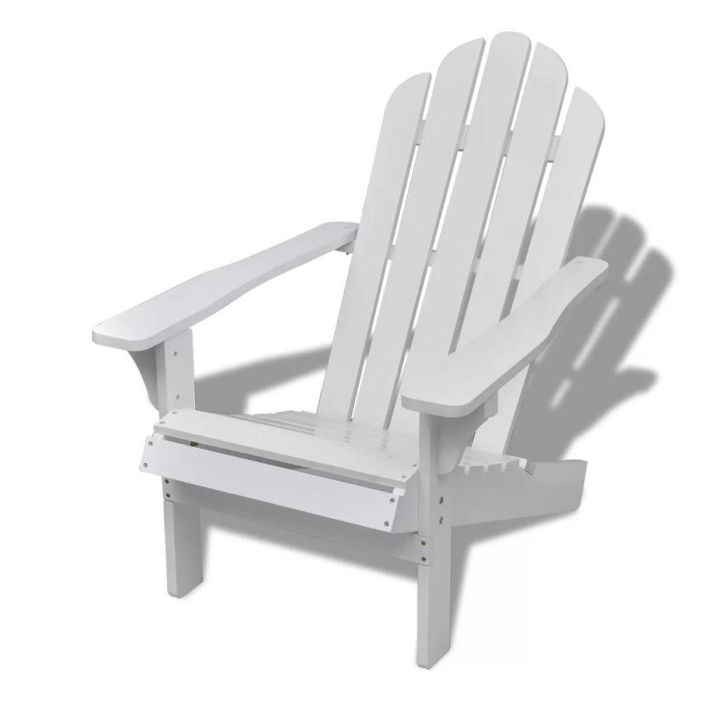 Vidaxl vidaXL Chaise de jardin Bois Blanc