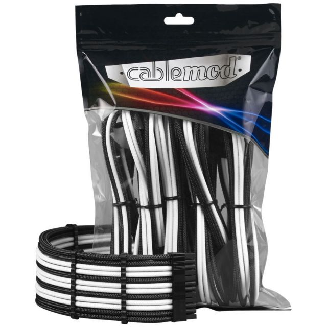 Cablemod - PRO ModMesh Cable Extension Kit - Noir / Blanc - Tuning PC