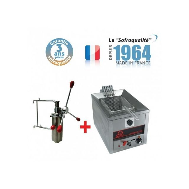Sofraca - Machine a Churros - 7 Litres + Doseur a chichis - Sofraca - - Friteuse