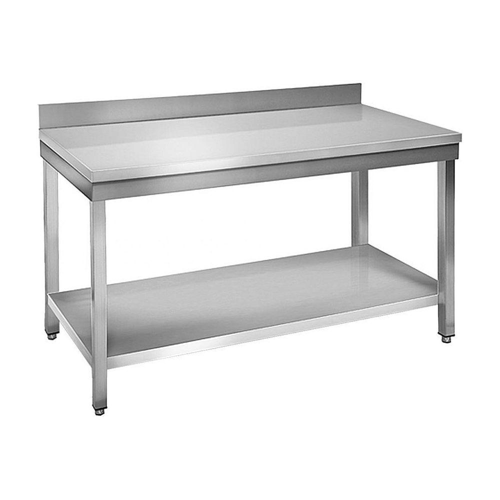 Skyrainbow Table à plancha tout inox 2 plateaux 120 cm