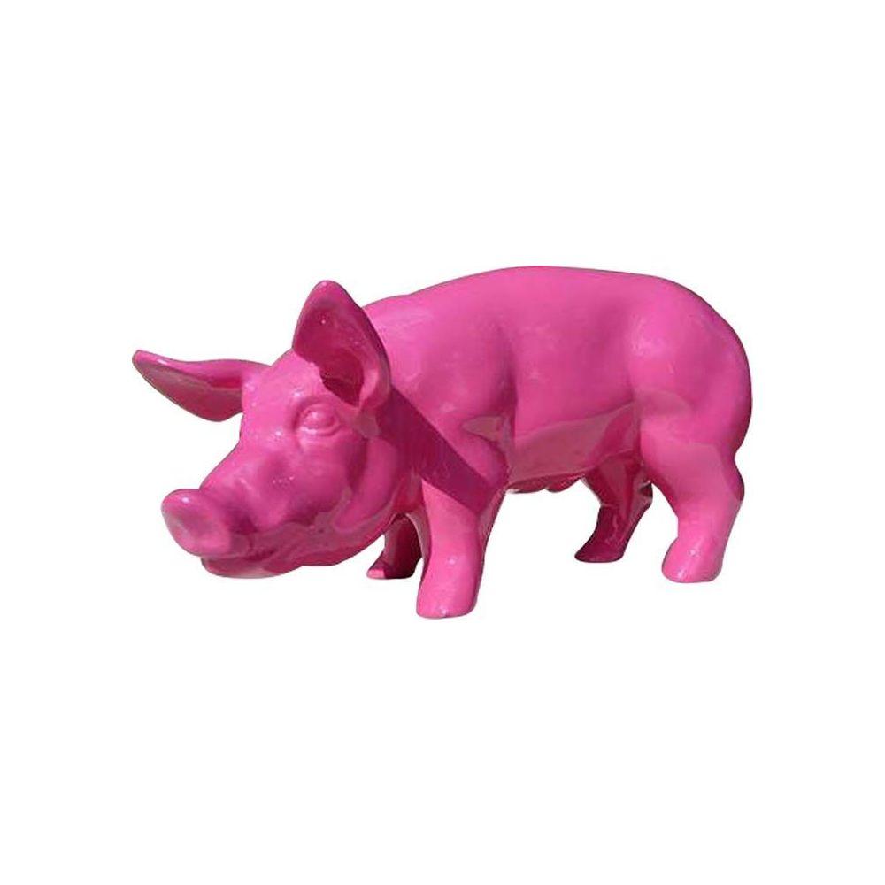 Texartes Cochon design rose en résine
