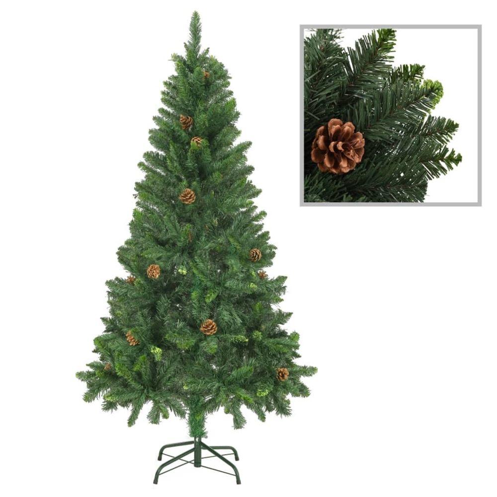 Vidaxl vidaXL Sapin de Noël artificiel avec pommes de pin Vert 150 cm