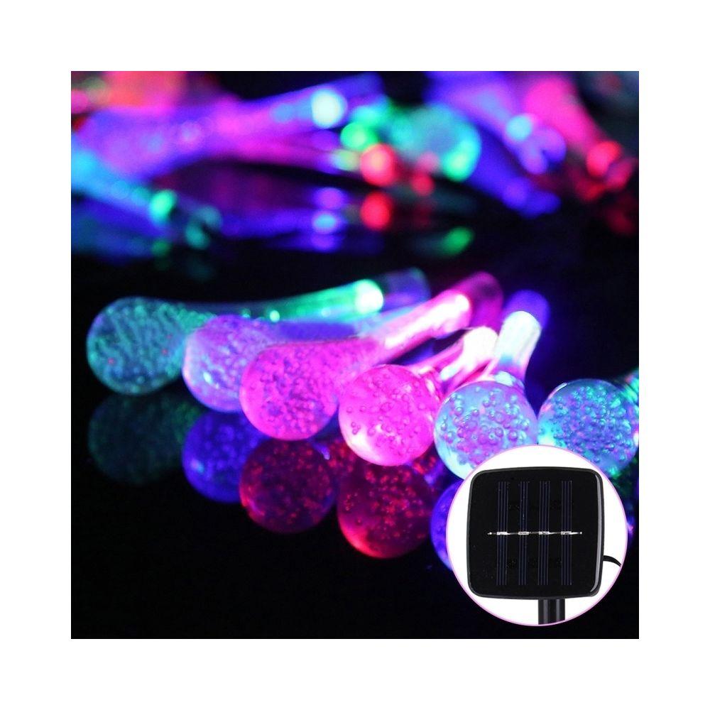 Wewoo Guirlande La vie de panneau solaire de 5m 240-360LM imperméabilisent la chaîne de forme de Waterdrop de 30 LED s'allume