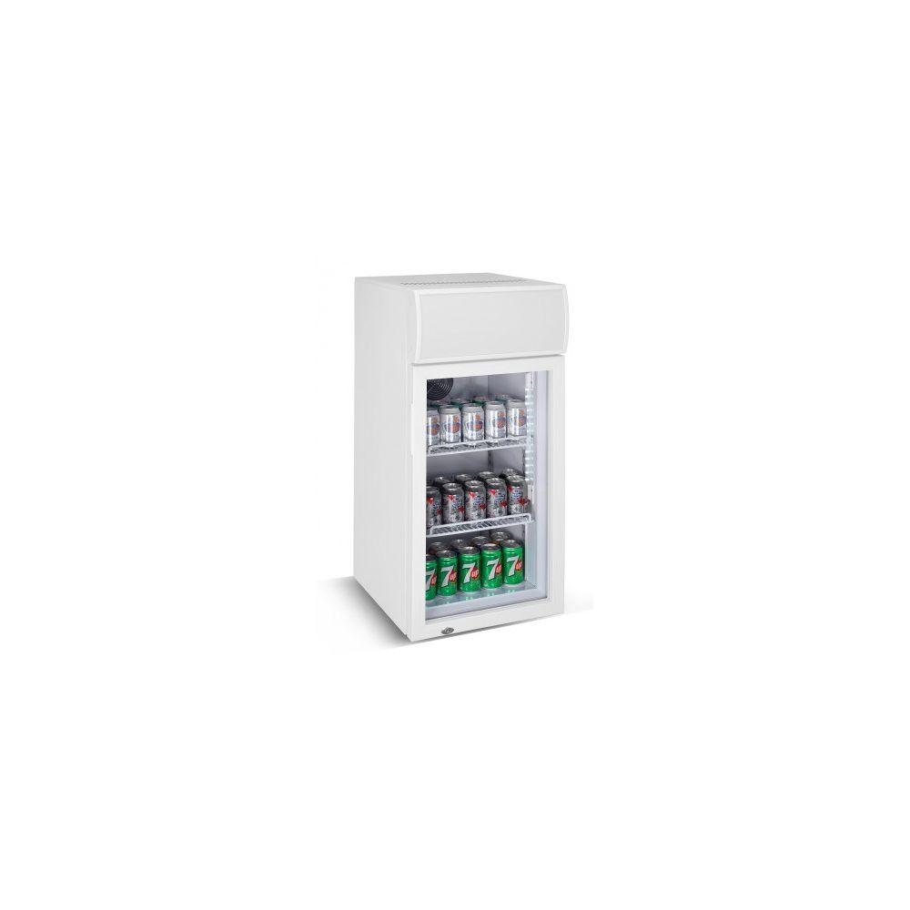 Combisteel Petite armoire vitrée réfrigérée - 80 litres - Combisteel - 1 Porte