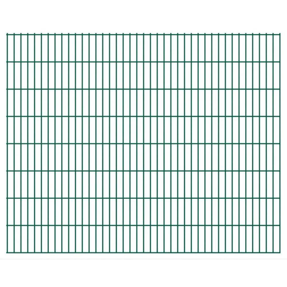 Vidaxl Panneaux de clôture 2D pour jardin 2008x1630 mm 10 m vert   Vert