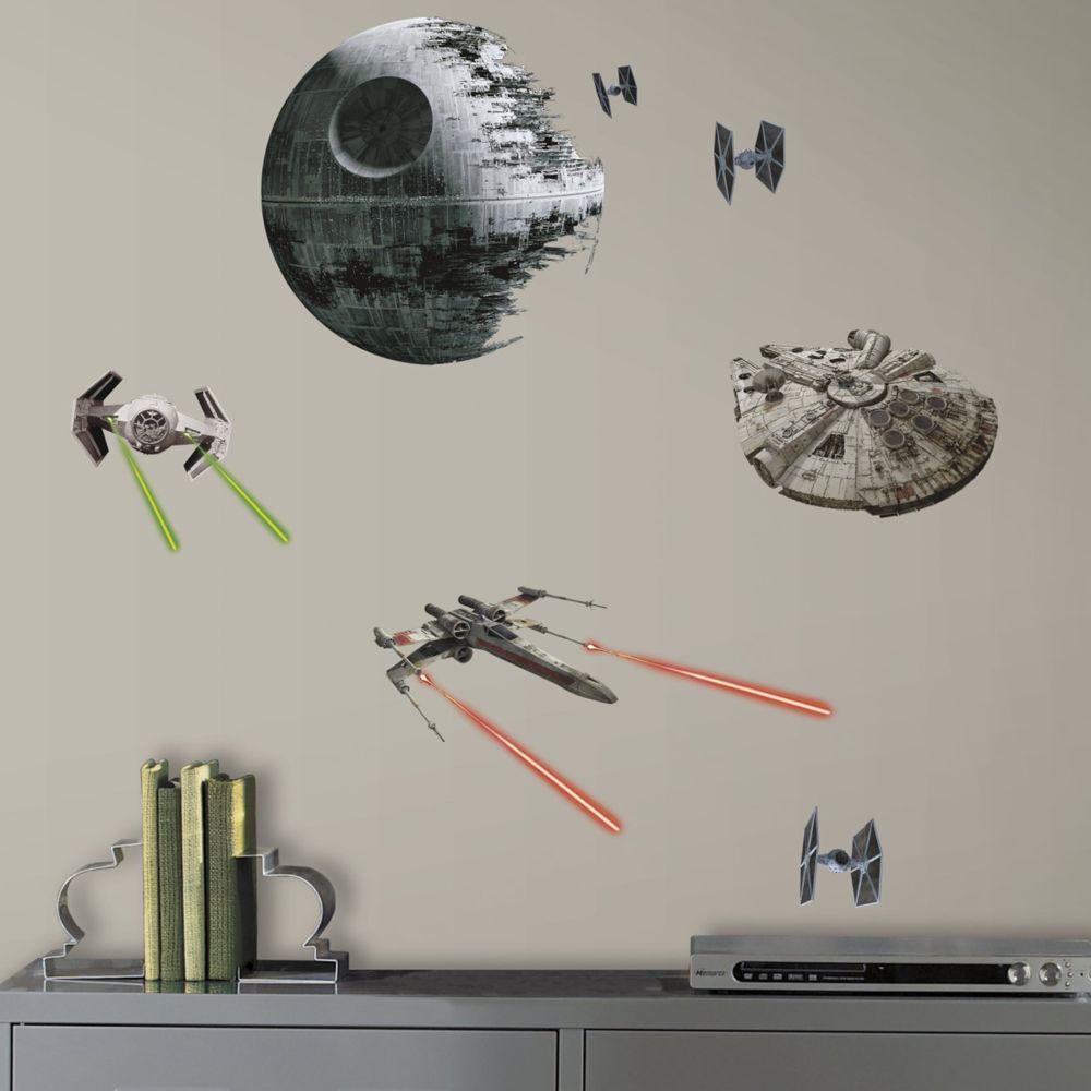 Roommates 20 Stickers Vaisseaux Empire et Rebel Star Wars