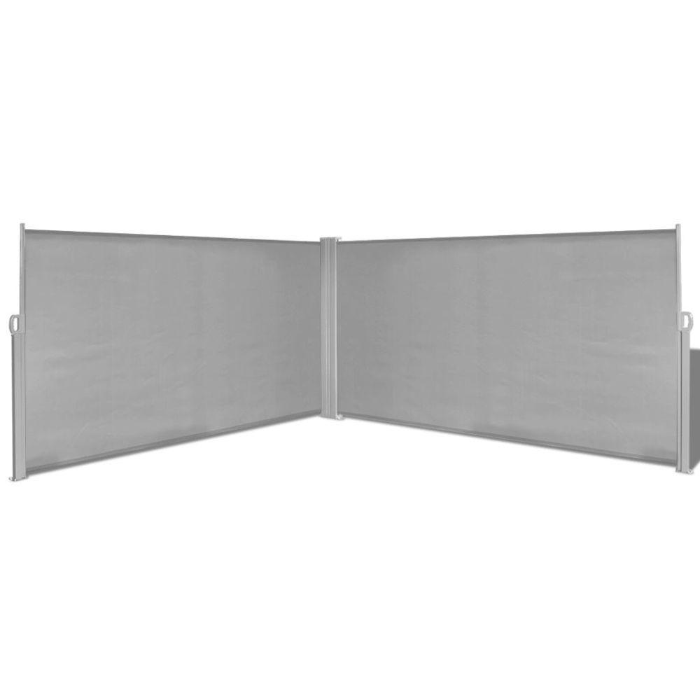 Vidaxl Auvent latéral rétractable gris de 160x600 cm | Gris
