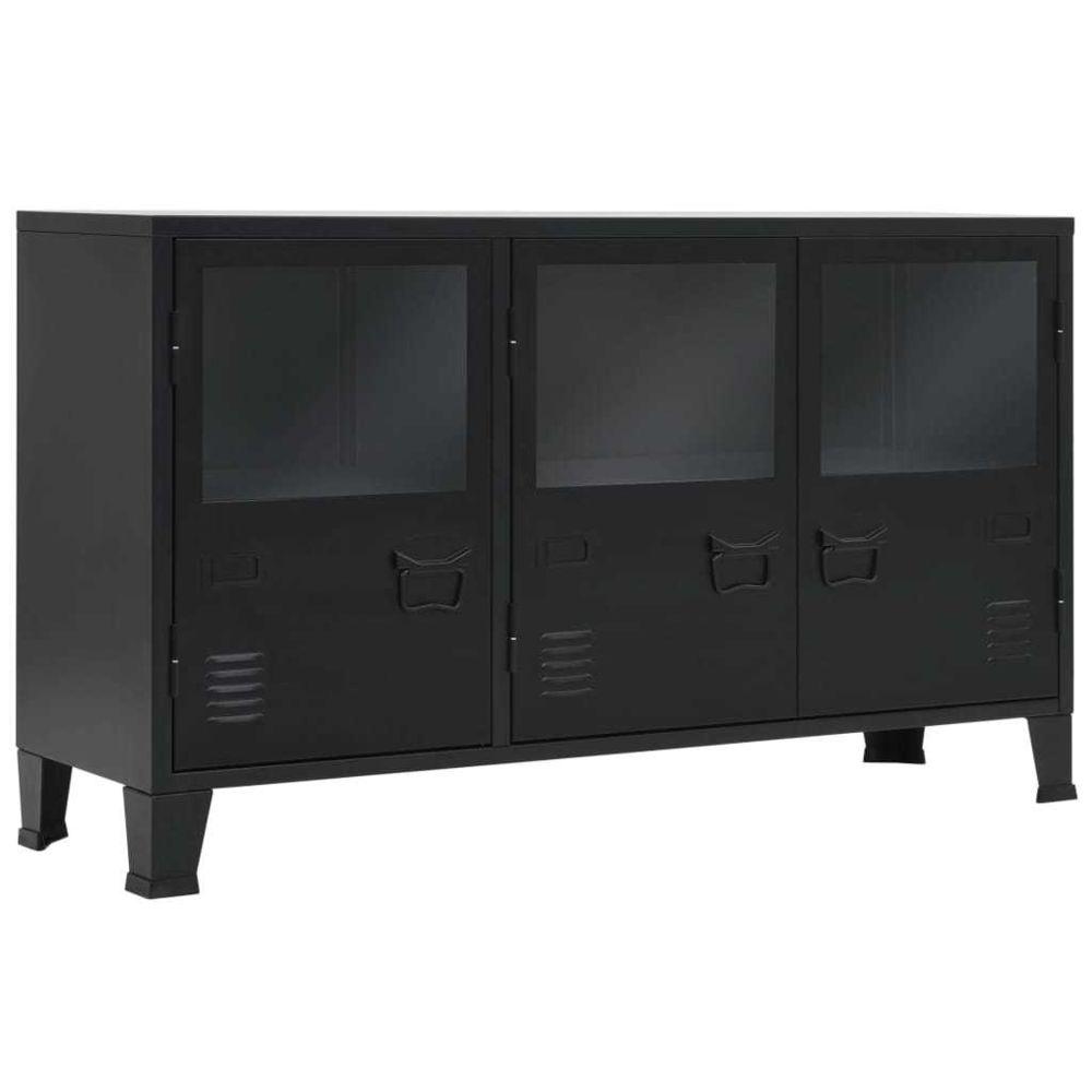 Uco UCO Buffet Métal de style industriel 120 x 35 x 70 cm Noir