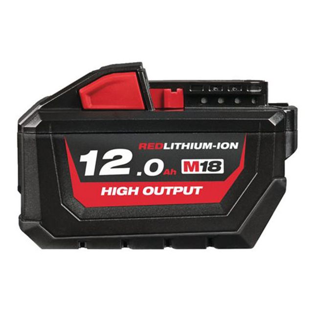 Milwaukee - MILWAUKEE Batterie 18V 12Ah High Output M18 HB12 - 4932464260 - Accessoires vissage, perçage