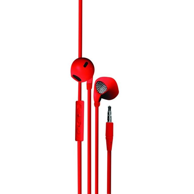 Metronic -METRONICEcouteur intra-auriculaire avec micro intégré 1,2 m - rouge480128 Metronic  - Casque Metronic