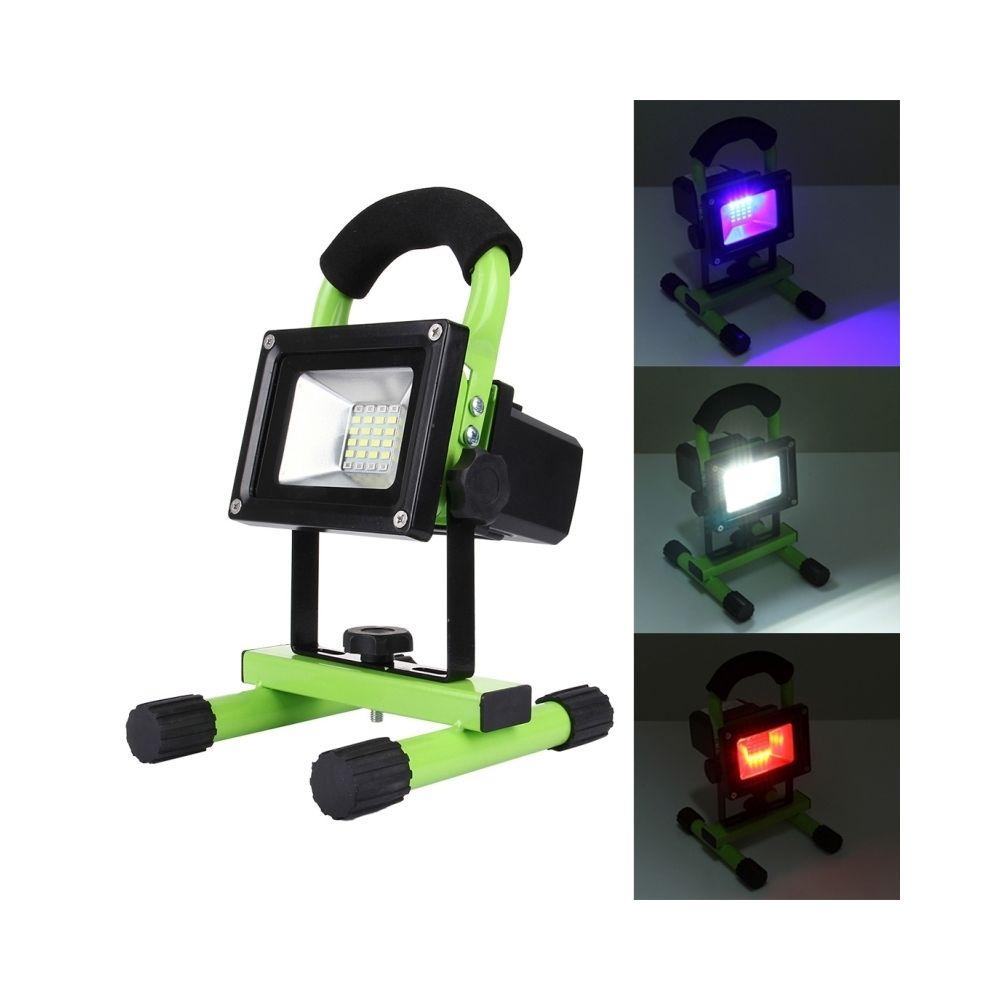 Wewoo Projecteur LED 10W 900LM Haute Puissance Résistant À L'eau 24 SMD-5630 Lampe De Rechargeable Portable avec Haut-Parleur