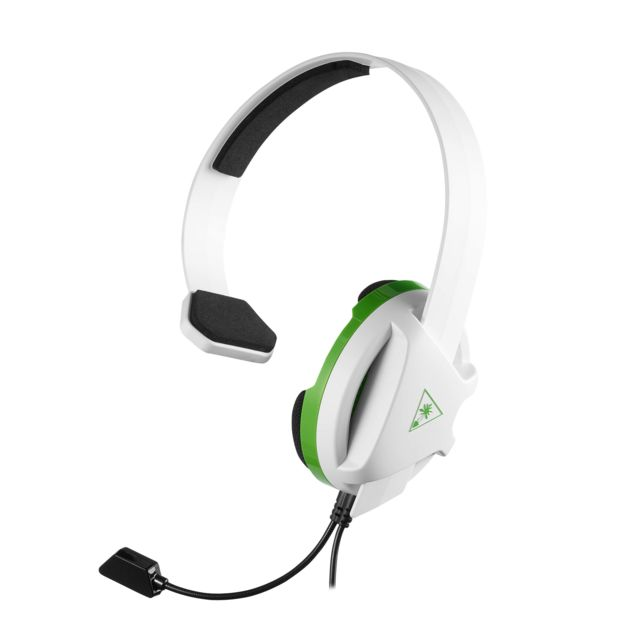 Turtle Beach -Recon Chat Blanc Xbox - Filaire Turtle Beach  - Micro-Casque Circum auriculaire