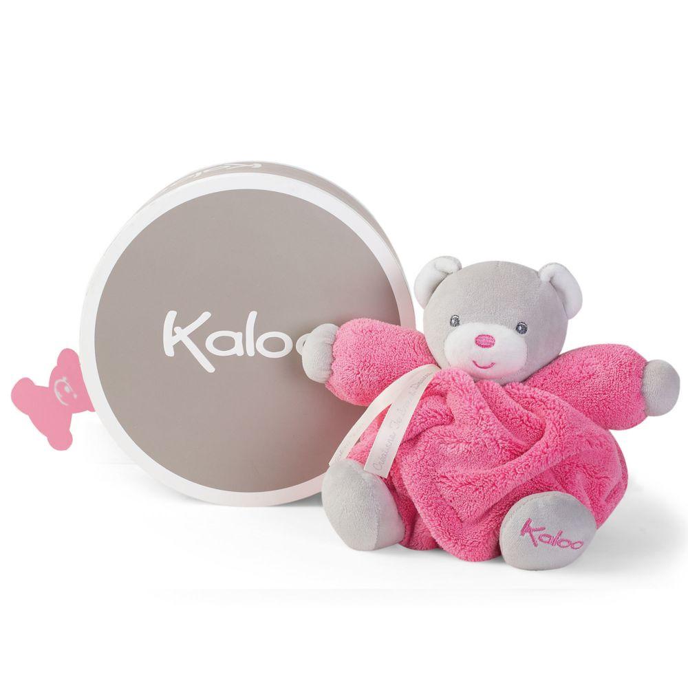 Kaloo Kaloo Plume : Patapouf ourson framboise (Petit)