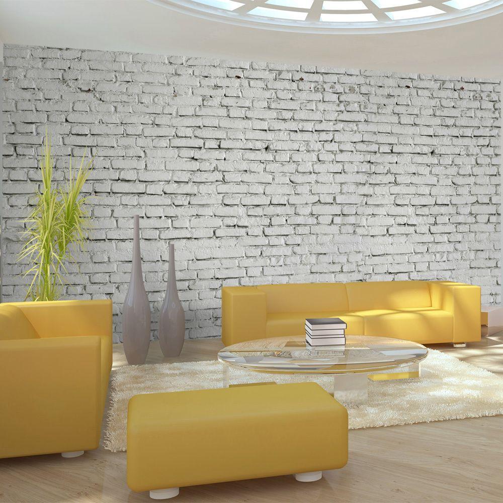 Declina Papier peint XXL - Mur blanc - esprit briques à l'état pur