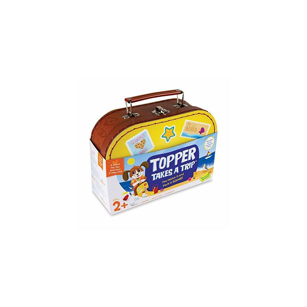Peaceable Kingdom Peaceable Kingdom Topper Takes A Trip - The Match It and Pack It Game for You and Your 2 Year Old