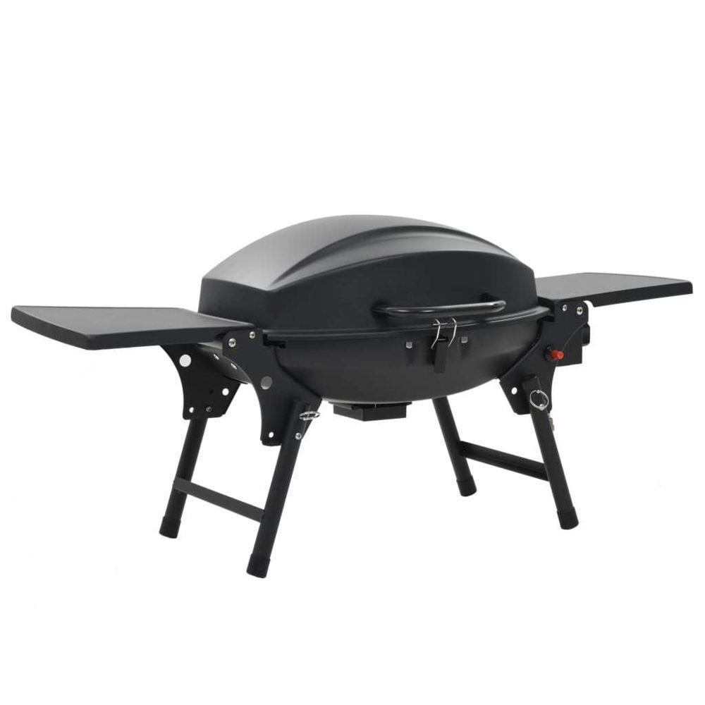 Vidaxl Barbecue à gaz portatif avec zone de cuisson Noir - Électroménager de cuisine - Grils d'extérieur | Noir | Noir