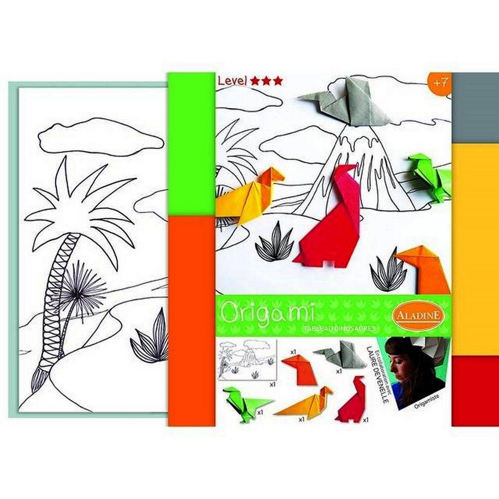 Sans Marque Kit Origami Pliage Les Dinosaure Coloriage Enfant Adulte Accessoire Enfant Rue Du Commerce