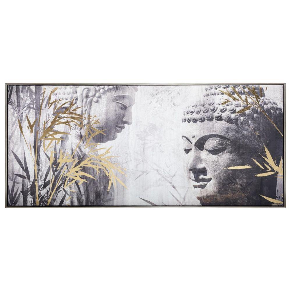 Atmosphera, Createur D'Interie Toile Imprimée / Cadre / Feuillage Bouddha