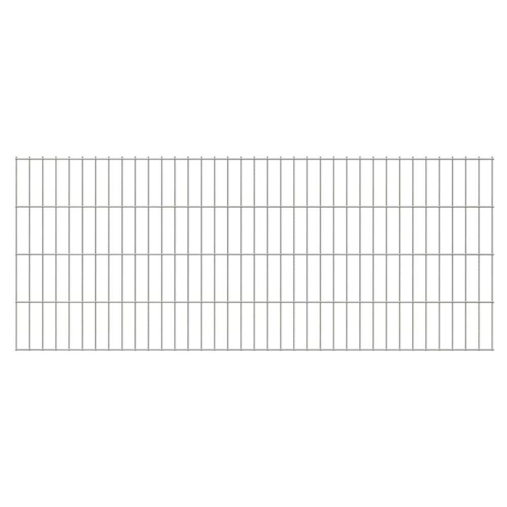 Uco UCO Panneaux de clôture 2D pour jardin 2008x830 mm 10 m argenté